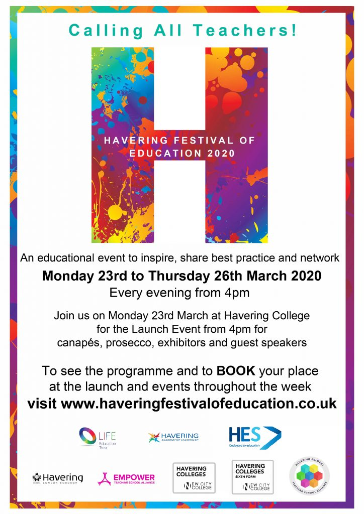 Have you signed up yet for the Havering Festival of Education?